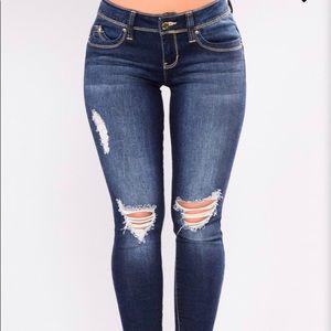 Fashionova booty lifting Jeans Dark Denim